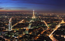 Paris wide wallpapers, Tour d'Eiffel desktop wallpapers, la tour Eiffel, Paris in the night