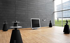 Bang & Olufsen BeoVision 5 42 on motorised floor stand with BeoLab 5 and BeoCenter 2 обои HD и широкие обои для рабочего стола